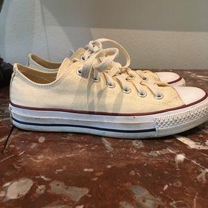 Cream/White canvas Converse